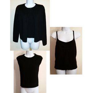 Vintage y2k bundle of 3 black cashmere tops set S